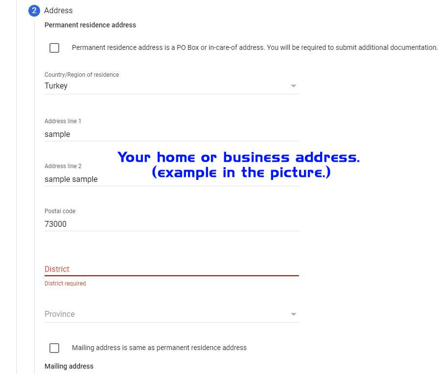 usa tax address