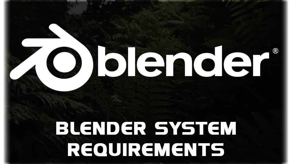 blender hardware requirements