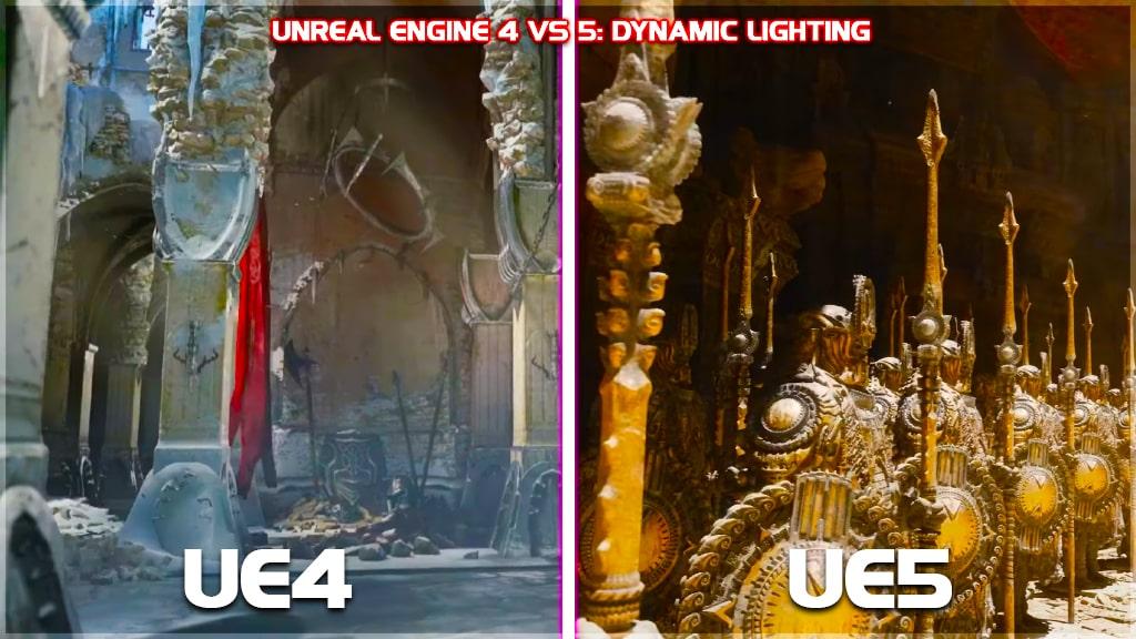 unreal engine 4 vs unreal engine 5 graphics