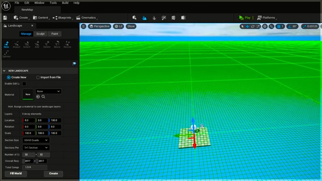 unreal engine 5 tutorial: landspace