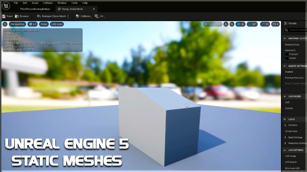 unreal engine 5 static meshes